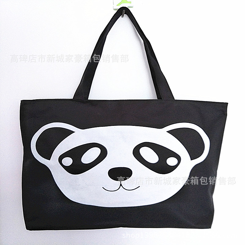 2019 Korean-style Canvas Bag Fashion Mommy Shoulder Handbag Stall Supply Of Goods Women's School Bag Printed Large Bag