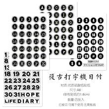 4 шт черно белые ретро кнопки с цифрами план на английском языке