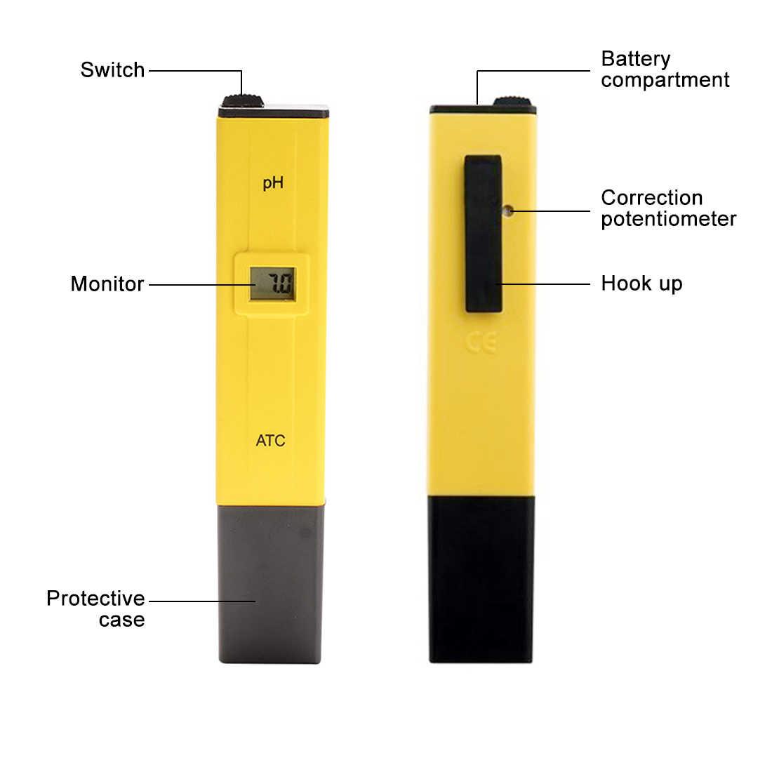 Baru Digital Tester 0.0-14.0 Ph 150 Mm Pena (Tipe PH Meter Air untuk Aquarium Kolam Renang Laboratorium Air