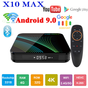 X10 MAX TV BOX Android 9.0 Sma