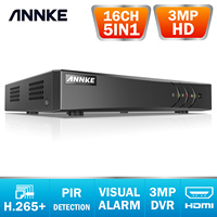 ANNKE H.265+ 5MP Lite HD 16CH CCTV Surveillance DVR 5IN1 Digital Video Recorder PIR Motion Detection For 2MP 3MP 5MP IP Cameras