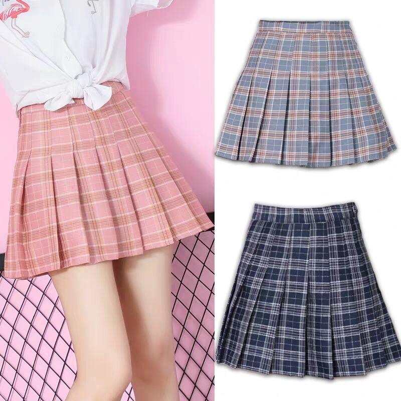 JK Plaid Pleated Skirt Girly Sexy Short Skirt Korean Style Spring Summer Skirt High Waist Short Skirt Women 2020 Hot Sale A030 1
