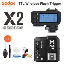 Godox x2 X2T-C X2T-N X2T-S X2T-F X2T-O X2T-P ttl 1/8000s hss disparador de flash sem fio para canon nikon sony fuji olympus pentax