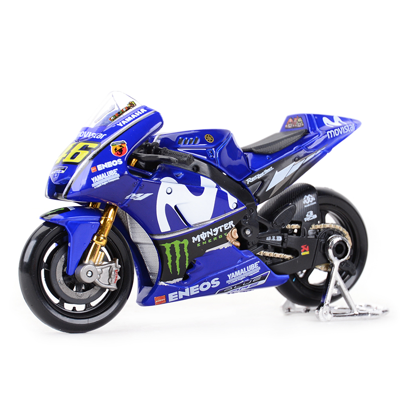 Maisto 1:18 2018 GP Racing Yamaha YZR M1 Factory Racing Team 46# 25# Diecast Alloy Motorcycle Model Toy
