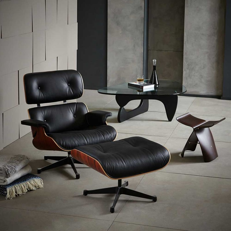 Modern Mid Century Leather Design Armchair Living Room Furniture Charles Swivel ReclinerAccent Lounge Chair With Ottoman