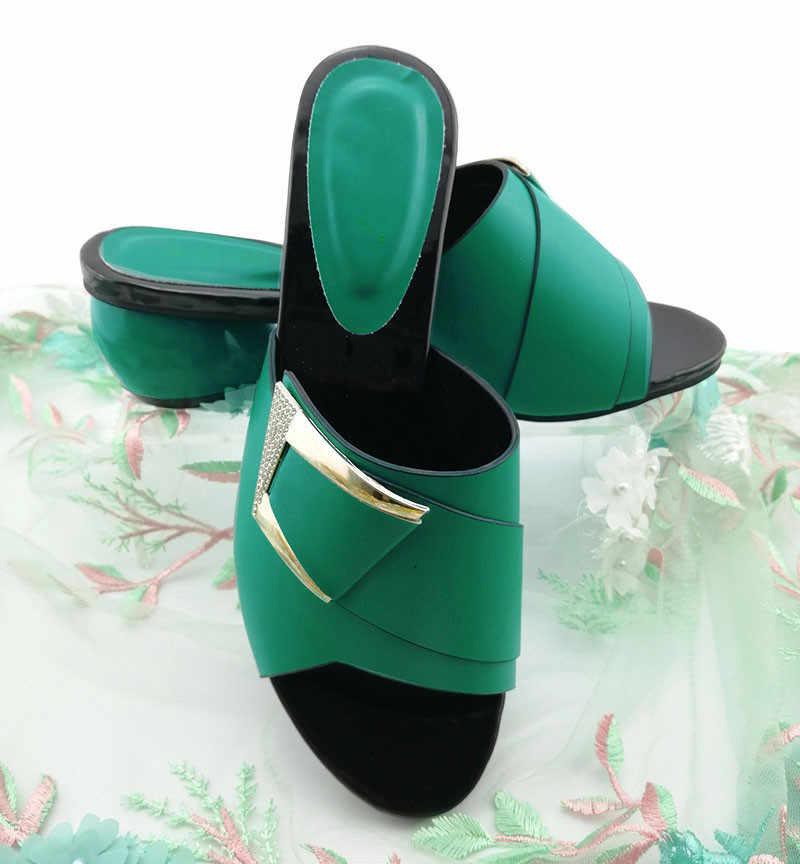 Wspaniały żółty damskie buty z metalu dekoracji afryki sandały damskie do ubierania się QS1904, pięty 6CM