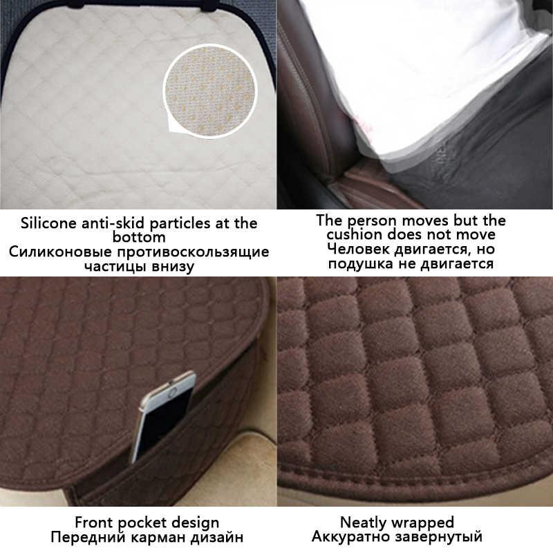 Oddychająca lniana poduszka podróżna cztery pory roku antypoślizgowe pokrowce miękkie wygodne bawełniane oparcie Pad uniwersalny rozmiar akcesoria samochodowe