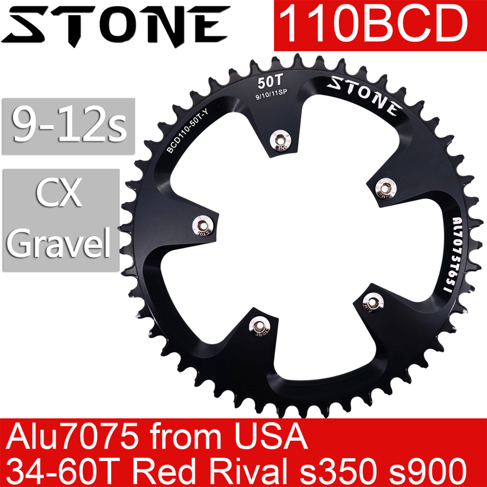 44T BCD:110 Chainring Chain Ring BMX Track Fixie Road Single Speed Bike black