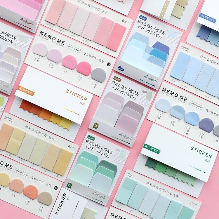 Sharkbang 60/80 vellen kleurovergang N keer sticky index notitie post - Notitieblokken en schrijfblokken bedrukken - Foto 2