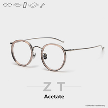 ZT round prescription glasses progressive women Men photochr