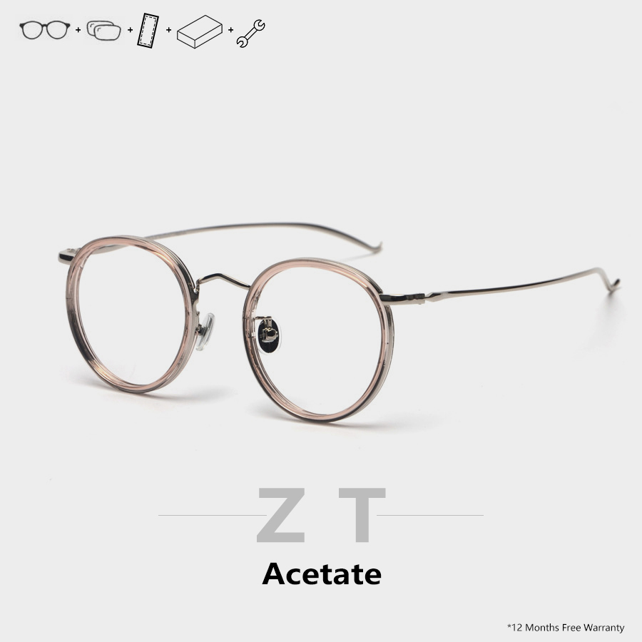 ZT round prescription glasses progressive women Men photochromic glasses brand design eyeglasses image