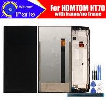 6.0 calowy wyświetlacz LCD HOMTOM HT70 + montaż digitizera ekranu dotykowego 100% oryginalny nowy LCD + dotykowy Digitizer dla HOMTOM HT70 + narzędzia