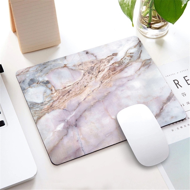 1pc Nordic Style Marble Mousepad for Gaming Laptop Computer Desk Mat Mouse Pad Wrist Rests Table Mat Office Desk Accessories