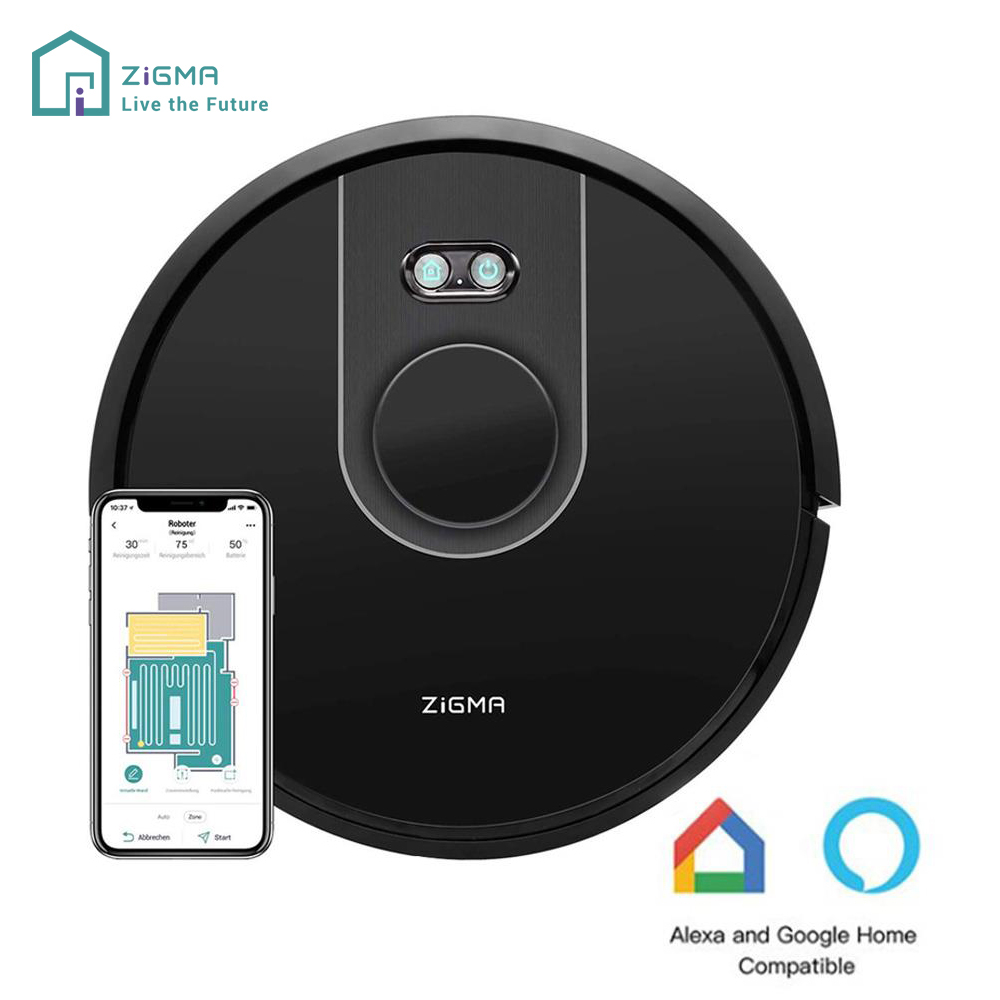 Roboter Staubsauger 2 in 1 Fegt Wischen Zigma Funken Smart Roboter Reiniger LDS Staub Sammler Alexa Google Home Sprach control