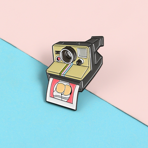 Camera Pins Instant Photo Busty Butt Cartoon Enamel Metal Pins Brooches Badges Lapel Clothes Women Pins Jewelry Funny Gifts