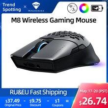 Machenike M8 mysz do gier bezprzewodowa mysz RGB akumulator 85g mysz do laptopa podwójny tryb mysz komputerowa PMW3335 16000DPI programowalny