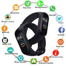 2019 Smart Watch Smart Band Men's Watch Heart Rate Monitor Blood Pressure Fitness Tracker Women's watch For IOS Android PK M3 M4 smart fitness sport smart watch blood pressure heart rate monitor bracelet band monitor smartwatch fo ios android pk miband 3 m3