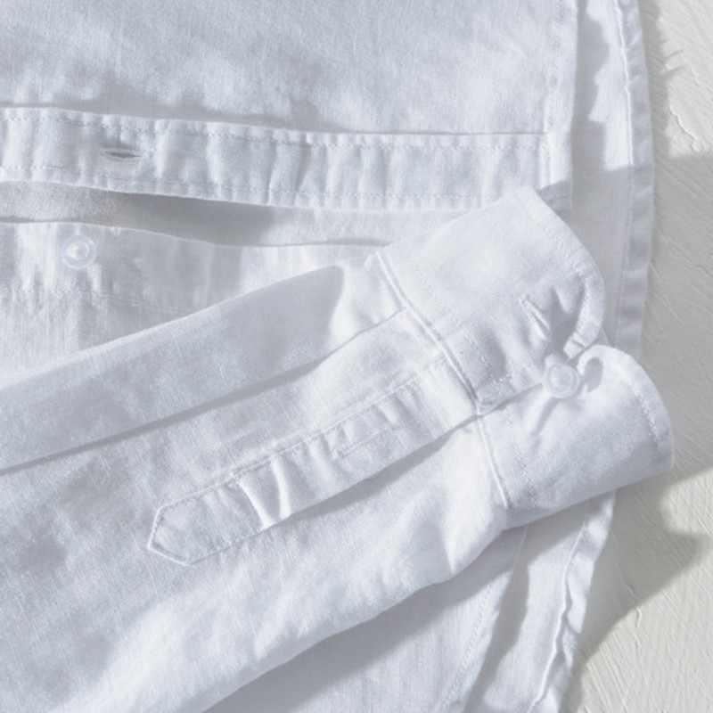 2020 letnie nowe męskie luksusowe bawełniane koszule na co dzień projektant plażowy długi rękaw Top Business męskie koszule jednorzędowe