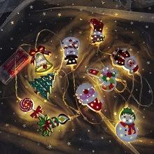 Weihnachten FÜHRTE Licht String Batterie Powered Santa Claus Weihnachten Baum Schneemann Leucht Girlande für Weihnachten Outdoor Indoor Decor