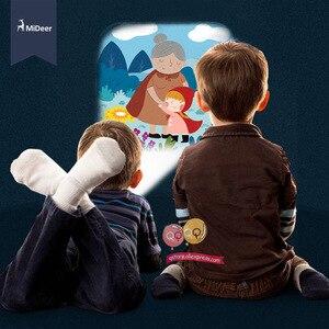 Image 3 - Mideer Mini proyector linterna para niños, juguetes educativos iluminados para niños, desarrolla el juego, cuentos de dormir, juego de actuación, regalo para niños