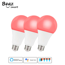 3pcs E27 Smart WiFi Bulb LED Light 7W RGBW Dimmable Light Bulbs Tuya Smartlife remote control work with Alexa Google Smart Home wifi led bulb dimmer smart rgbw light bulbs remote control wifi light switch led color changing light bulb works with alexa