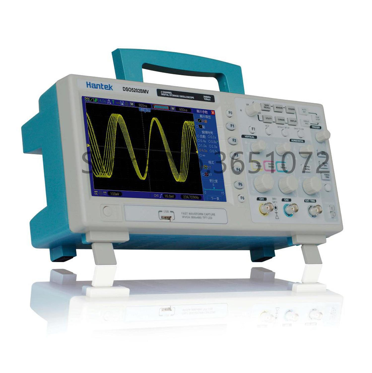 DSO5202BMV 2channels <font><b>200MHz</b></font> 1GSa/s <font><b>Digital</b></font> Storage <font><b>Oscilloscope</b></font> Built-in Video Help image
