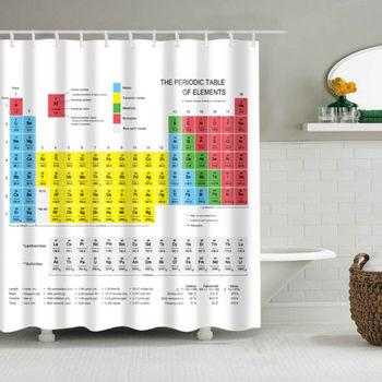 Chemiczny okresowy pasek poliestrowy 1 8m długi materiał kąpiel ważona zasłona prysznicowa teoria wielkiego podrywu Sheldon ta sama kurtyna tanie i dobre opinie CN (pochodzenie) Fabric Nowoczesne GEOMETRIC Ekologiczne Shower Curtains piece 0 387kg (0 85lb ) 12cm x 17cm x 19cm (4 72in x 6 69in x 7 48in)