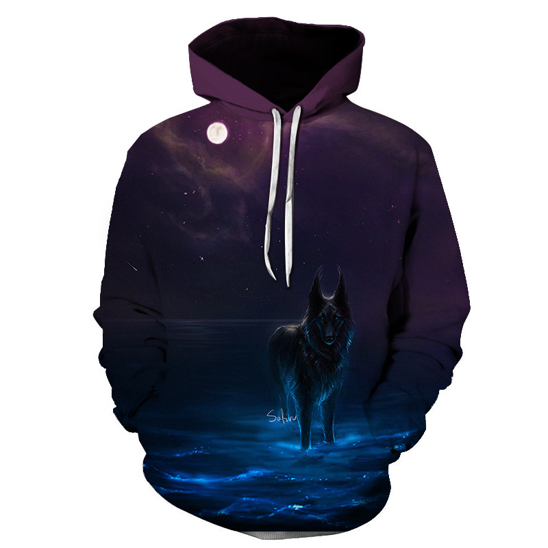 Wolf Printed Women 3d Hoodies Brand Sweatshirts Girl Boy Jackets Pullover Fashion Tracksuits Animal Streetwear Lovers Sweatshirt 69