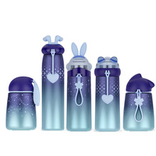 New arrivels Creative Stainless steel family office double layer vacuum cup stars moon sky gradient colors thermos flack