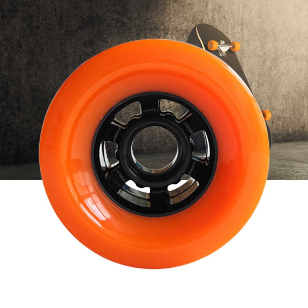 Sliding Easy Install PU Sports Smooth Soft Practical Electric Skateboard Wheel Hardness Outdoor Durable High Speed Professional