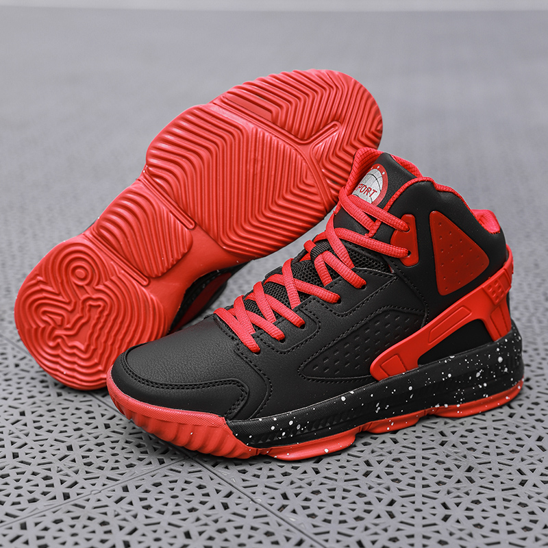 Men High-top Jordan Basketball Shoes Man's Cushioning Light Chunky Shoes Breathable Athletic Shoes Outdoor Sport Sneakers