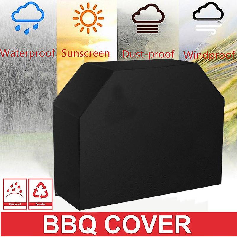 Grill Cover Black Storage Bag For Weber Spirit Gas E-310/E-320/SP-310/SP-320 Waterproof BBQ Cover BBQ Accessories Grill Cover