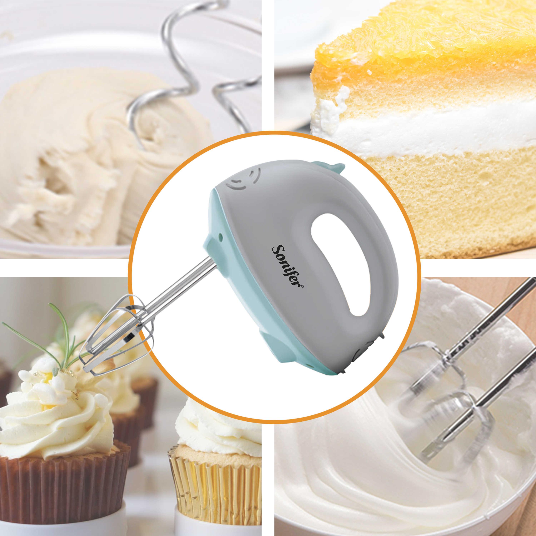 5 velocidades misturador de alimentos elétrico mão liquidificador massa liquidificador processador de alimentos batedor de ovo misturador de mão para cozinha cozinhar ferramentas sonifer