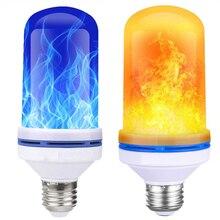 E27 Светодиодный светильник с эффектом пламени, лампа с мерцающим огнем, светодиодный настенный светильник, эмуляция декоративного светильника, вечерние, для сада, Рождественский Декор