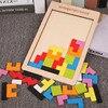 Puzzles Magic Tangram Children Wooden Educational Game Hobby Jigsaw Tetris Cubes Puzzles Kids Toy Children Boys Girls Wood Toys