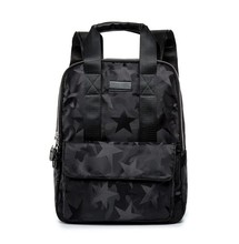Black Star Cool Oxford Waterproof Backpack Camouflage Army Style Laptop School Book Bag