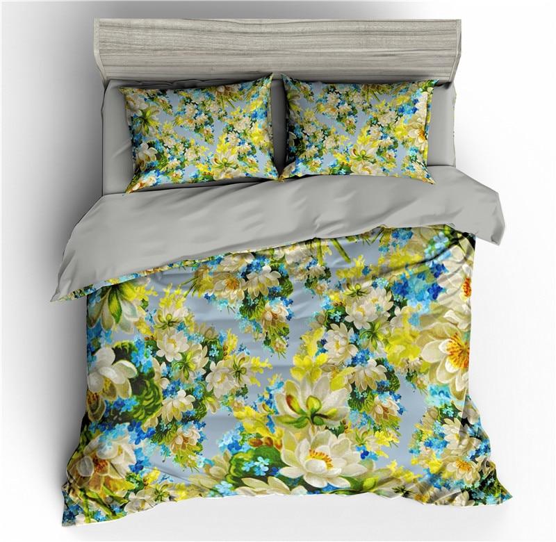 Flowers Patterns 3D Bedding Sets Floral Duvet Cover Set Quilt Covers King Size Bed Set Queen Full Size Comforter Bedding Set