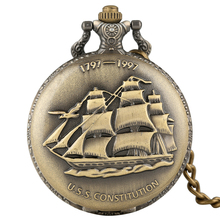 Buy Classic Sailing Canvas Boat Ship Pocket Watch Men Necklace Clock Quartz Women Pandent Watches blessing Gifts montre gousset homm directly from merchant!