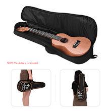 Muslady 23 Polegada concerto ukulele caso saco de caramelo acolchoado show saco macio caso guitarra acessórios peças