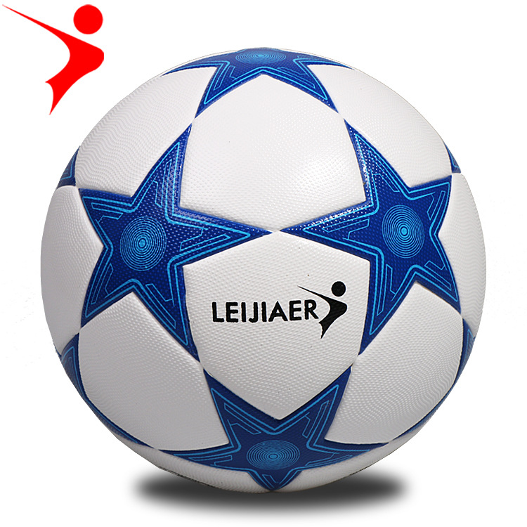 Ray Gal Genuine Product TPU Football Size 5 Football Blue Line Five-pointed Football Training Game Football rao xian qiu