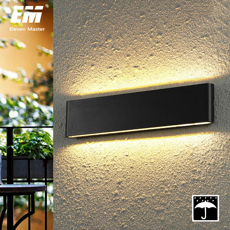 Modern Waterproof Outdoor 18W LED Wall Lamp IP65 Aluminum UP And Down Wall Light Garden Porch Sconce Light 110V 220V ZBW0011
