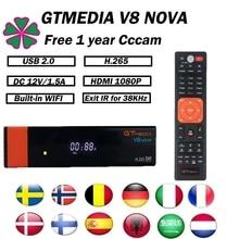 DVB-S2 1080P GTmedia V8 Nova Cccam Cline Satellite Receiver Built in WIFI by Freesat V8 2Years Europe Cline Satellite tv receive tv receiver server nova satellite oscam gtmedia v8 support cccam spain wifi satellite most stable europe dvb s2 newest 7lines