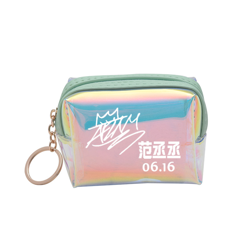 Idol Trainees Wallet Cai Xu Kun Huang Ming Hao Chen Li Agricultural-Style Cheng Related Products Laser Students Purse Wallet