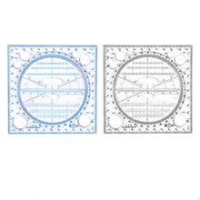 1Pc Multifunctional Drawing Rulers Geometry Template Measuring Tools Students Mathematics Geometric Ruler Stationery Supplies