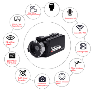 Image 5 - 16X Digital Zoom Video Camera Camcorder 1080P HD WIFI Wide Angle Lens/Outer Microphones Remote Control