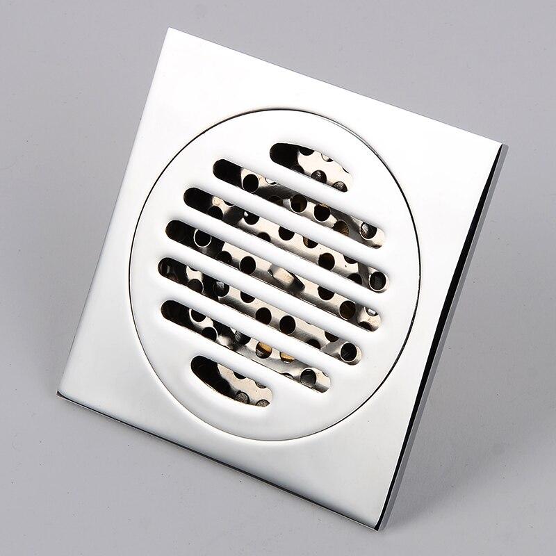 Bathroom Brass Floor Drain Gold Square Shower Floor Drains Linear Covers Sink Linear Floor Waste Grates