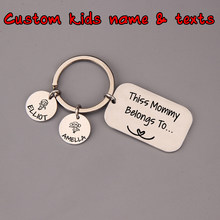 Custom Names Mom Birthday Gift Name Keychain Pendants Personalized Jewelry Suit Stamped Present Son Daughter Souvenir Family(China)
