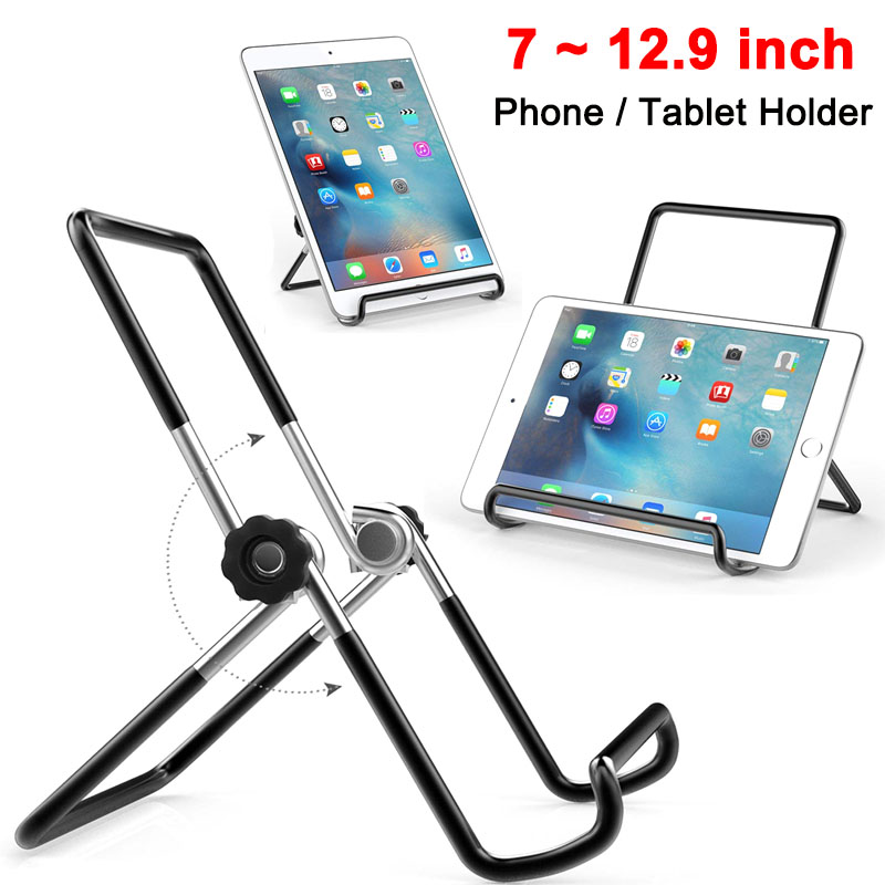 Desktop Tablet Holder For IPad Pro 2020 Huawei Xiaomi Samsung 7 To 12.9 Inch Phone Tablet Steady Metal Stand Holder