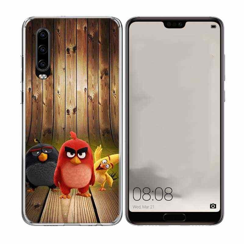 حافظة لهاتف هواوي ميت 10 برو 20 لايت P10 P20 P30 P40 lite حافظة لهاتف هواوي ميت 10 برو 20 لايت P Smart 2019 Shell The Angry Bird Coque