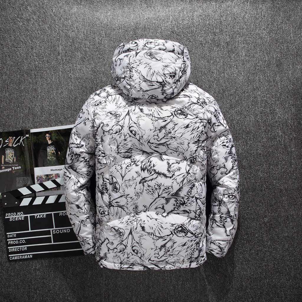 מותג חורף מעיל גברים סלעית Parka מעיל גברים של סתיו החורף מזדמן כיס כפתור תרמית עור Jacket למעלה מעיל גברים בגדים